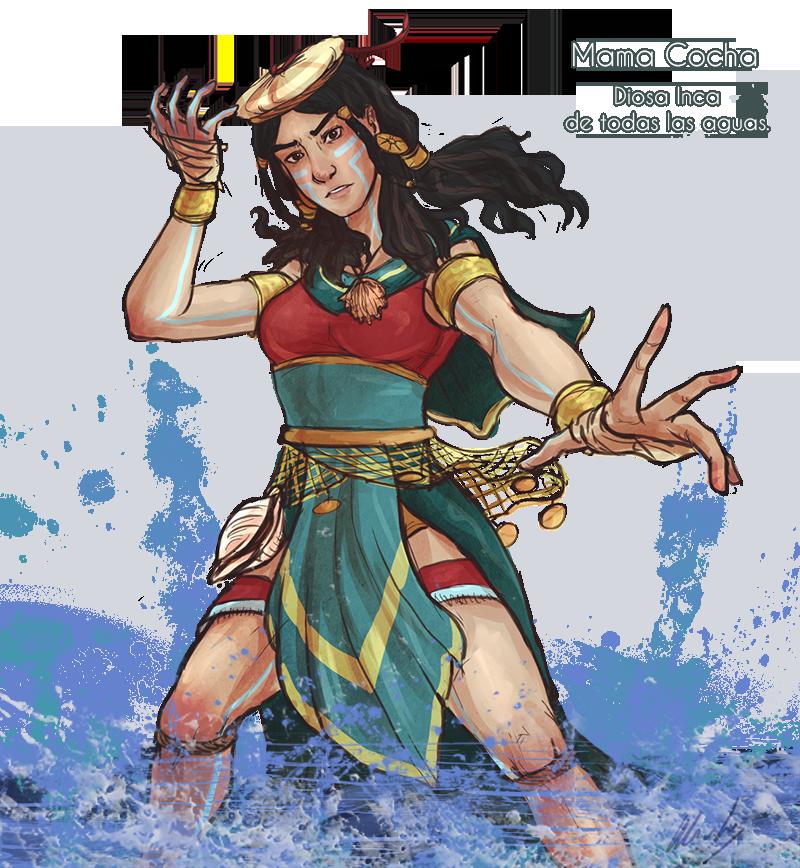 MamaCocha_Goddess of All Waters by Cuti-chan