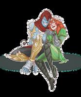 Bakasura 'n Artemis_Commission by CutiChan