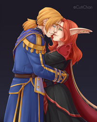 Anduin and Vendelia_Commission