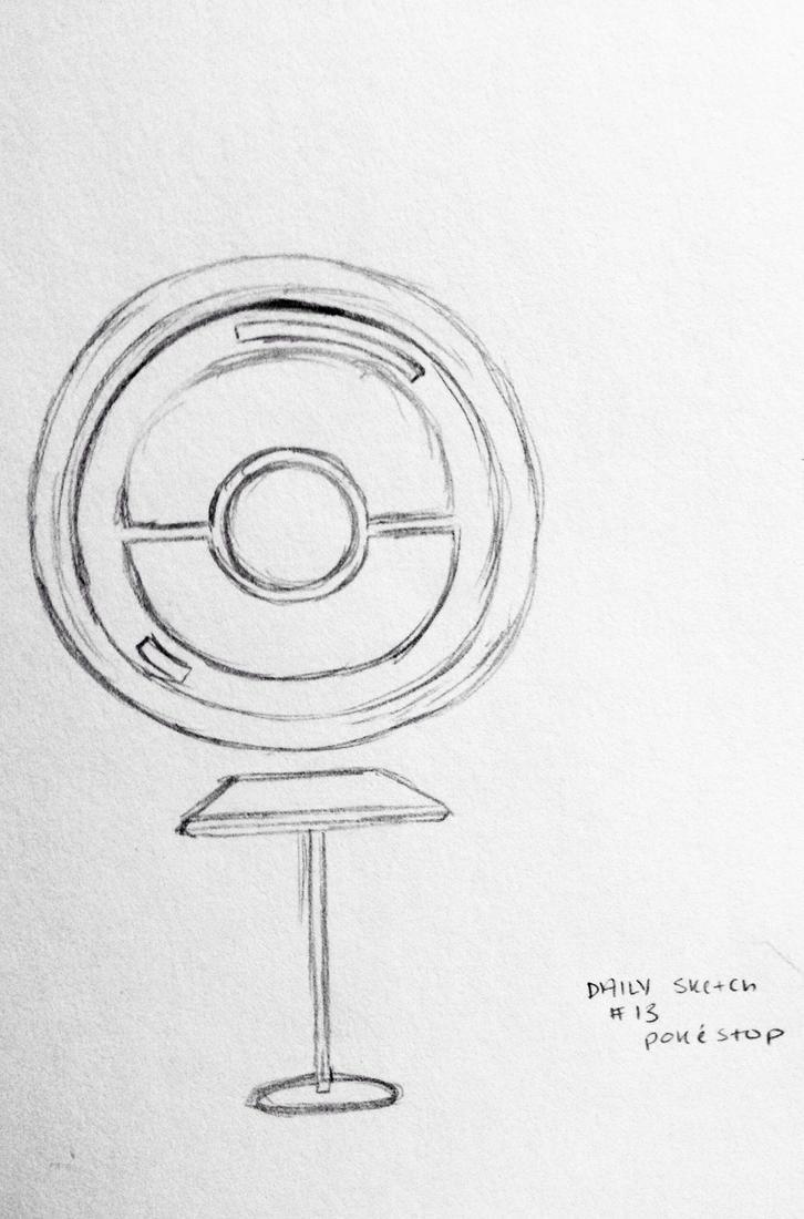 Daily Sketch #13: Pokstop by lexigogesnally