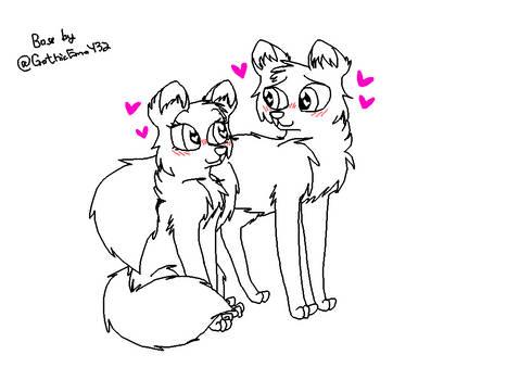 Free Canine Couple Base (PNG)