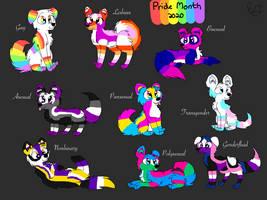 Pride Flag Doggos