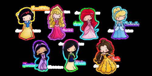 Disney Princesses :3 by elicoronel16