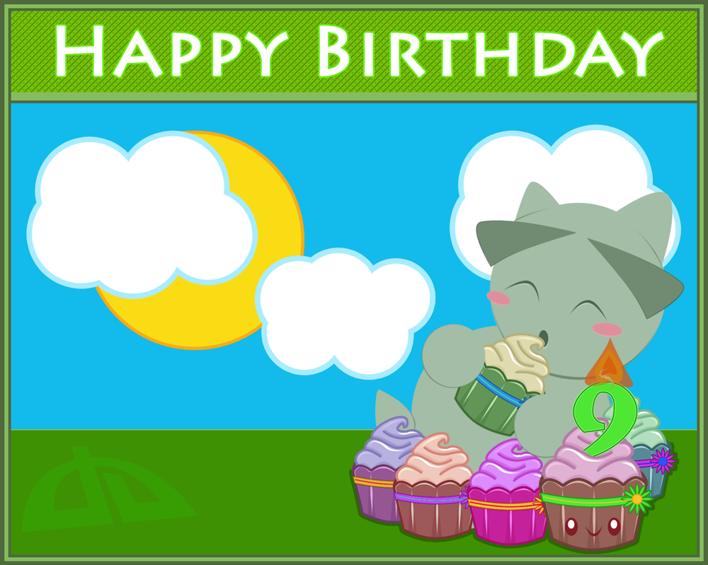 dA 9th Birthday Wallpaper by elicoronel16