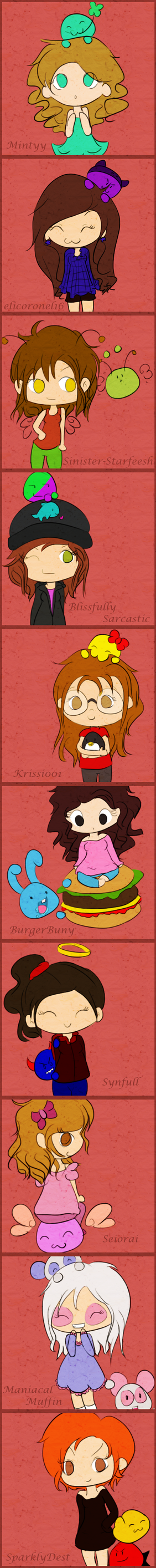 Girls Emoticonists Colored by elicoronel16