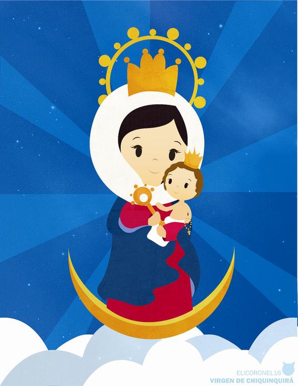 Virgen de chiquinquira en caricatura - Imagui