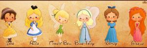 Disney Girls Pt.2 by elicoronel16