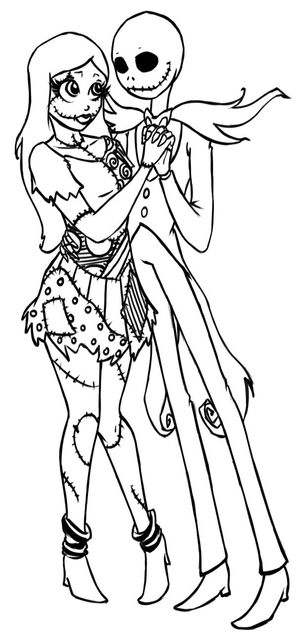 Nightmare before christmas character coloring coloring pages for Nightmare before christmas coloring pages