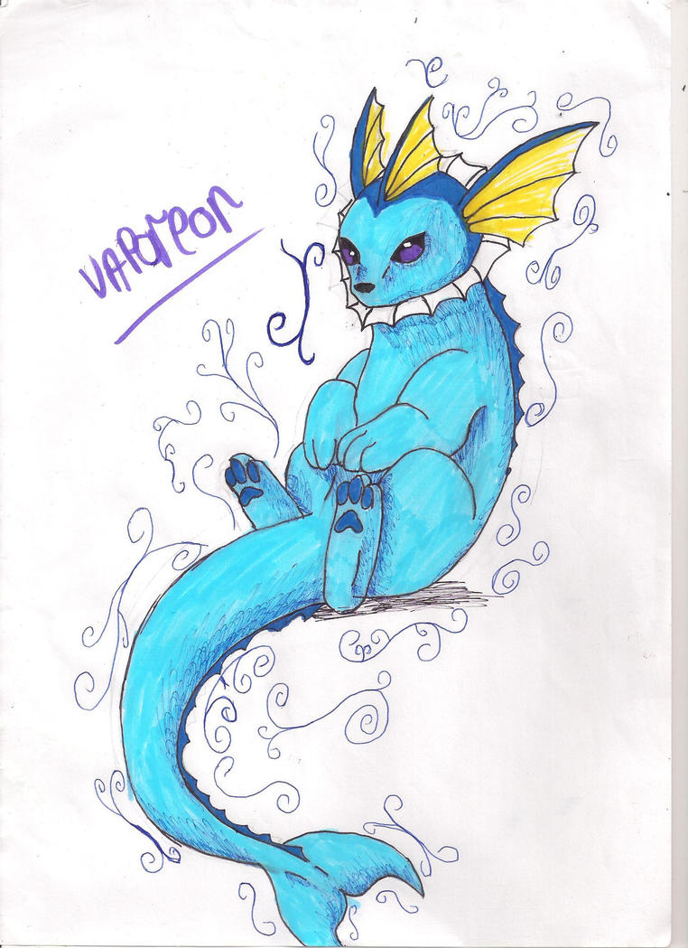 Vaporeon by Lia-The-Wolf