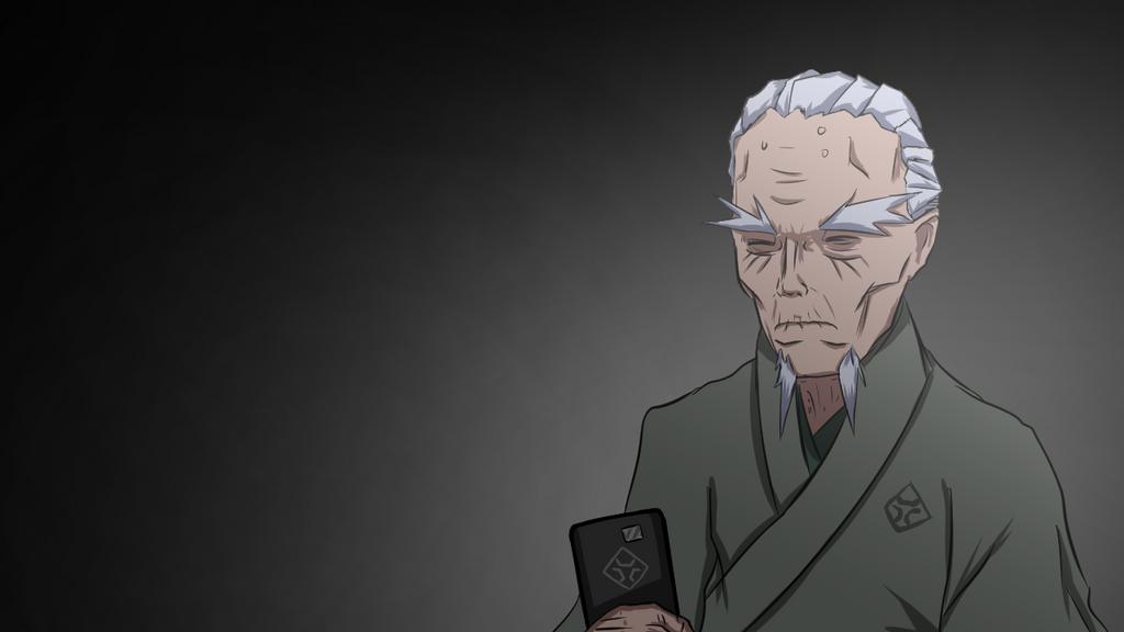Megami Saikou's grandfather (fake anime) by DarkRavenDemon