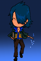 Deimon  (pixel drawing) by DarkRavenDemon