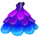 Sparkle petal gown Small by tropical395