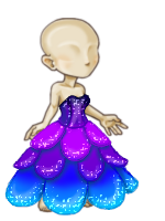 Ocean Petal Gown with HA by tropical395