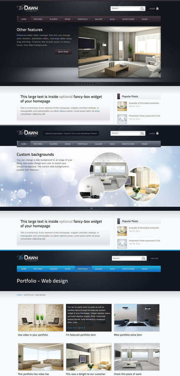 theDawn Premium theme by m-biz