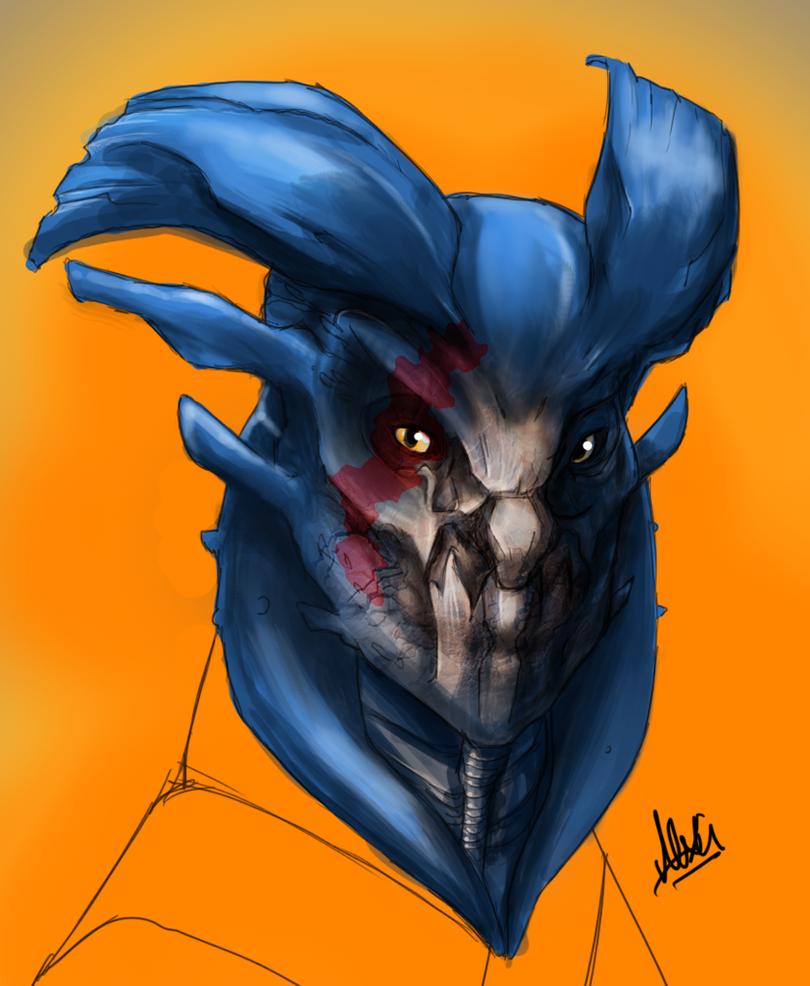 Quick Alien Concept Art by SemiAverageArtist