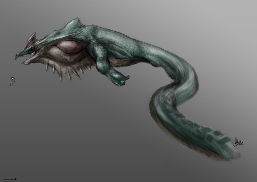 Sea Monster Concept by SemiAverageArtist