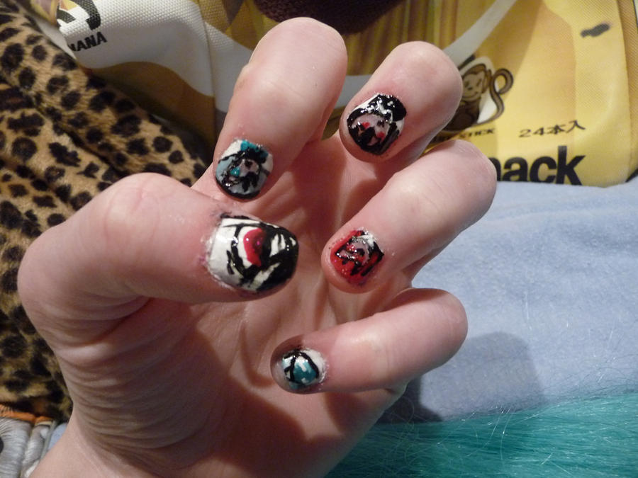 Black Butler Nails by ShiyoriPhantomhive