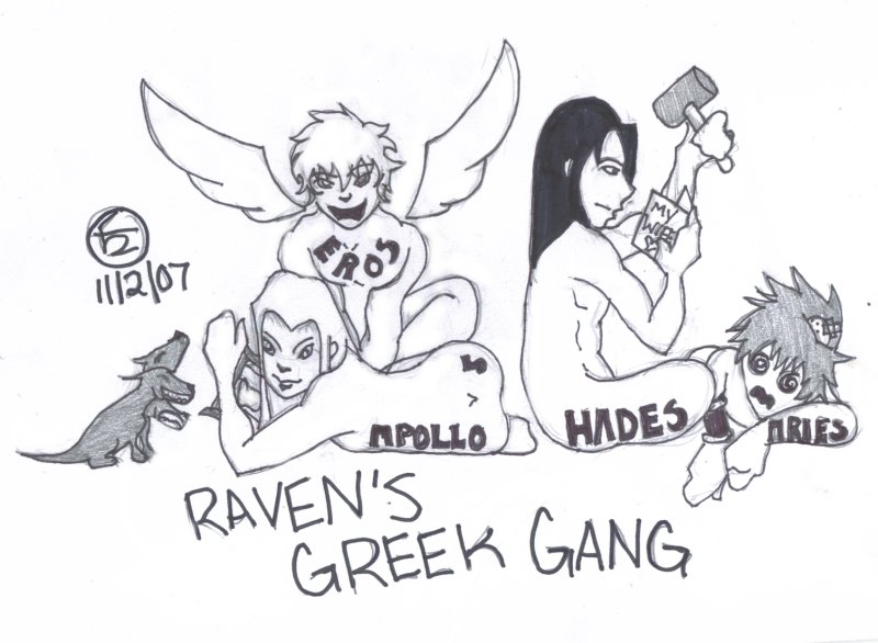 Ravens Greek Gang by AkumuNoNekura