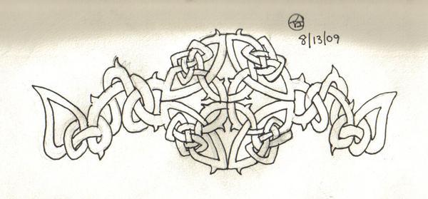 Celtic Knot With Vines by AkumuNoNekura