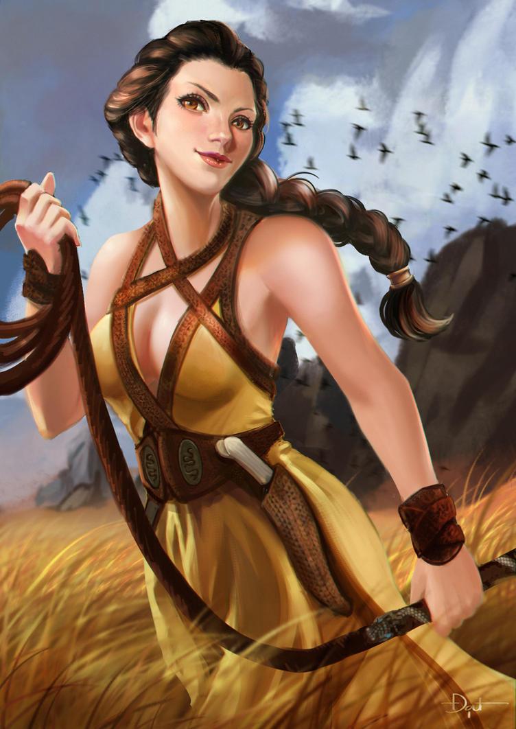 Nymeria Sand GOT fanart by TaylorStark
