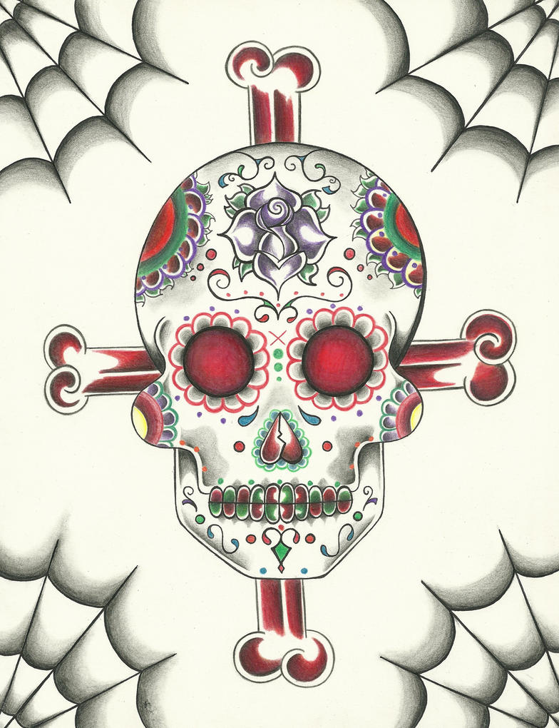 Sugar Skull Art Drawing