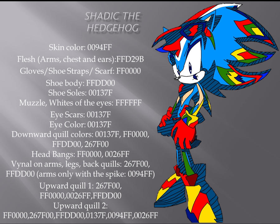 Shadic Ref color guide sheet by Pure2153Light