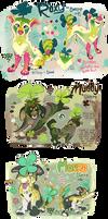 Cloverpups: Roxy, Muddy, Mondo (Vday 2018)