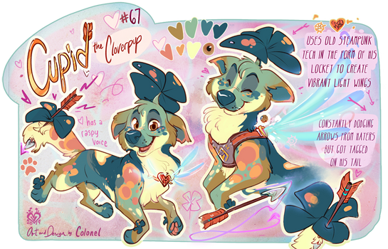 Cupid- Valentines Cloverpup