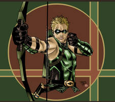 Green Arrow by sebastianhaze
