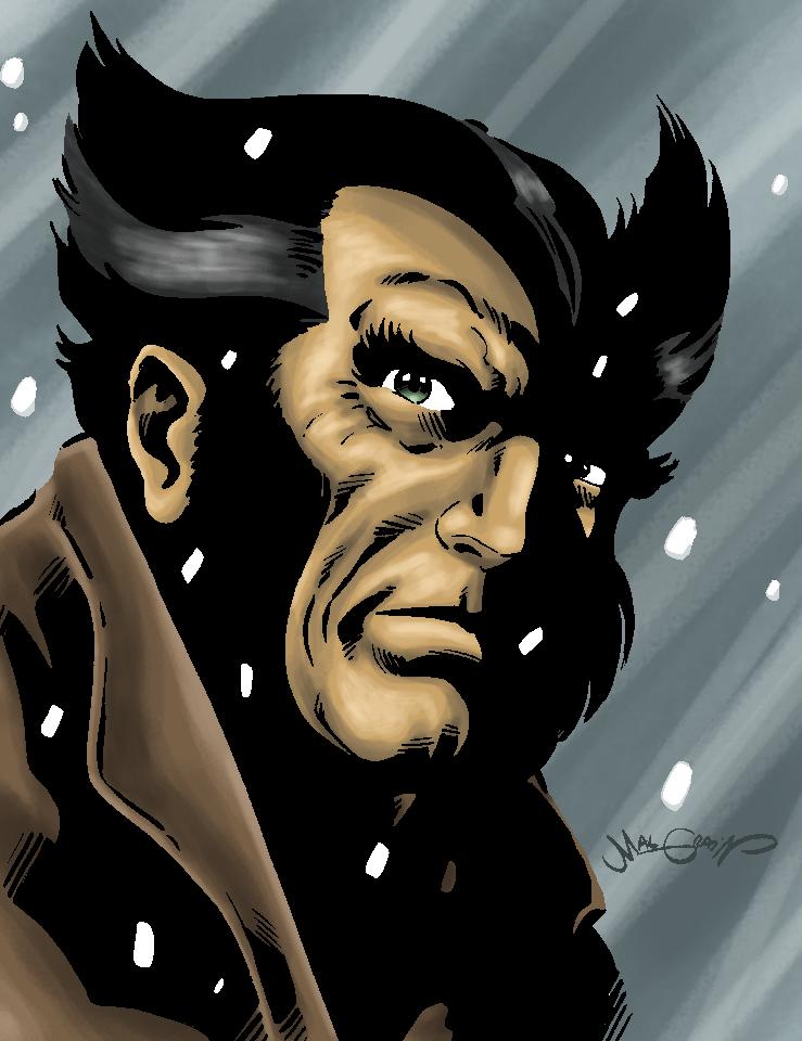 wolverine snow by sebastianhaze