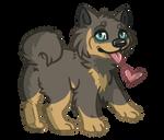 Chibi dog by KrafiCat