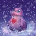 Bird in snow by KrafiCat