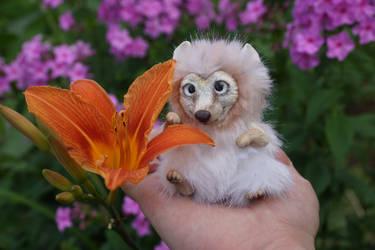 Mini dog toy and flower 2 by KrafiCat