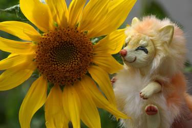 Yunmei Mirai toy and sunflower by KrafiCat