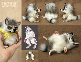 Werewolf mini toy by char by KrafiCat