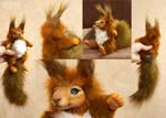 Big red squirrel mini doll 1 by KrafiCat