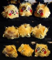 Pikachu owls by KrafiCat