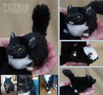 Charm doll black and white cat by pet