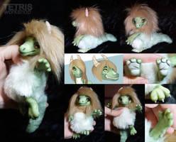 Mini doll fluffy lizard by KrafiCat