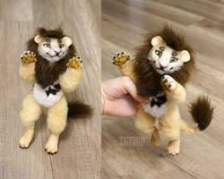 Poseable art doll lion by KrafiCat