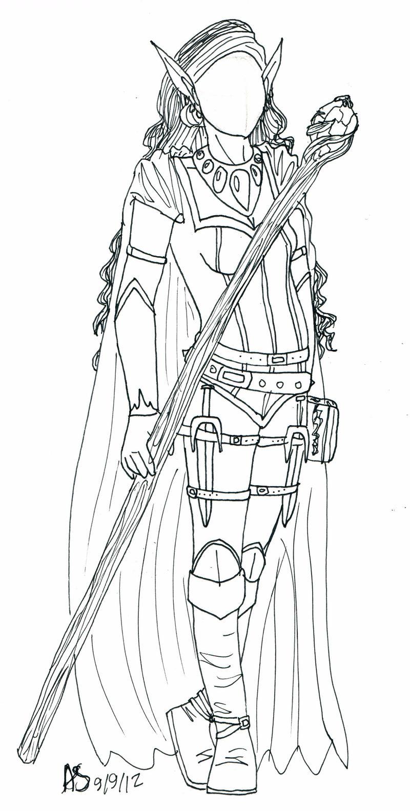 Drow Priestess by penut-butter-goddess
