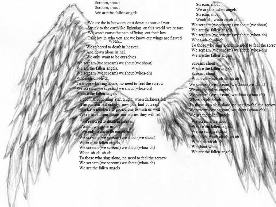 Fallen Angels lyrics by A7XFan666 on DeviantArt