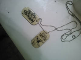 Motionless in White dog tags