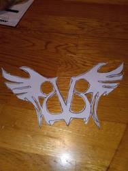 Black Veil Brides Winged logo stencil