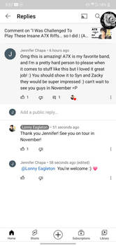 Lonnie Eagleton liked and responded to my comment
