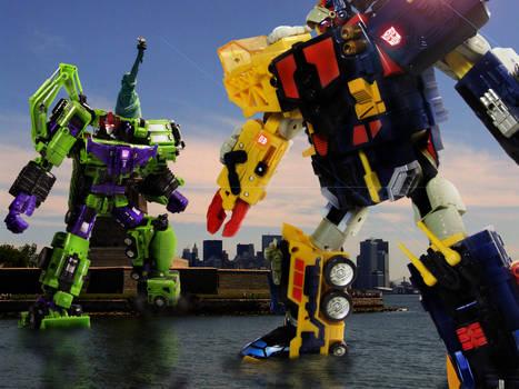 Devastator vs. Omega Supreme