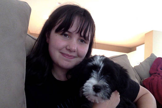 A teen and her Puppy