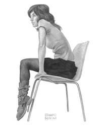 Seated Woman 2 by edwardbatkins
