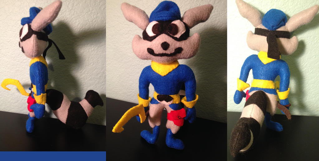 Sly Cooper Stuffed Animal, Sly Cooper Felt Plushie By Sillydillydaffy On Deviantart