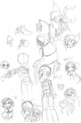 Undertales from down below AU sketches by heavy147